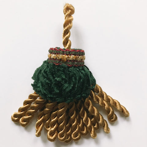 Gold and Emerald Green High Quality Decorative Tassel