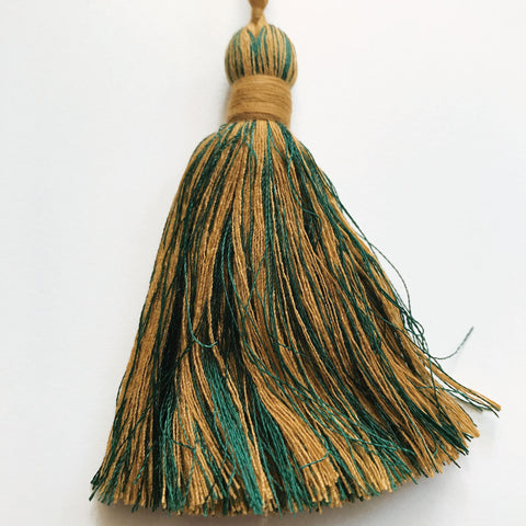 Emerald Green and Mustard High Quality Decorative Tassel