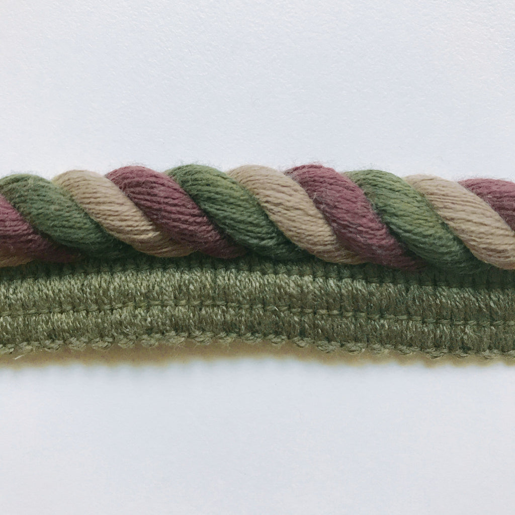 Olive Green and Purple High Quality Decorative Lip Cord Trim by the yard