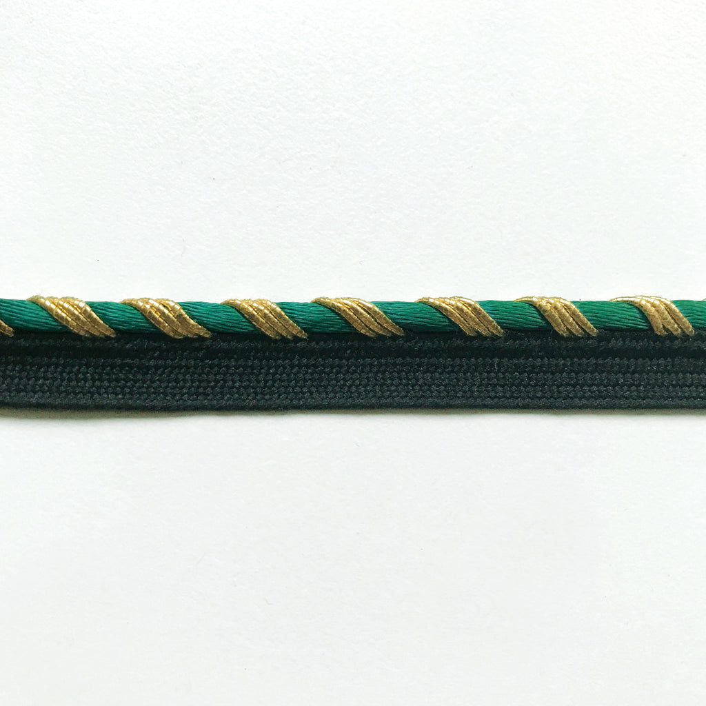 Emerald Green High Quality Decorative Lip Cord Trim by the yard