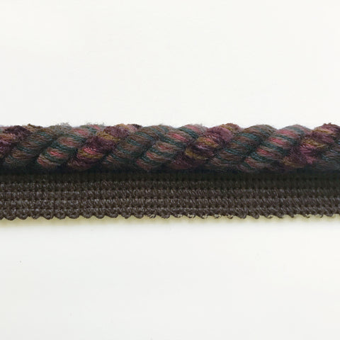 Dark Brown and Burgundy High Quality Decorative Lip Cord Trim by the yard