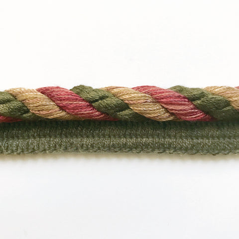 Olive Green and Yellow  High Quality Decorative Lip Cord Trim by the yard