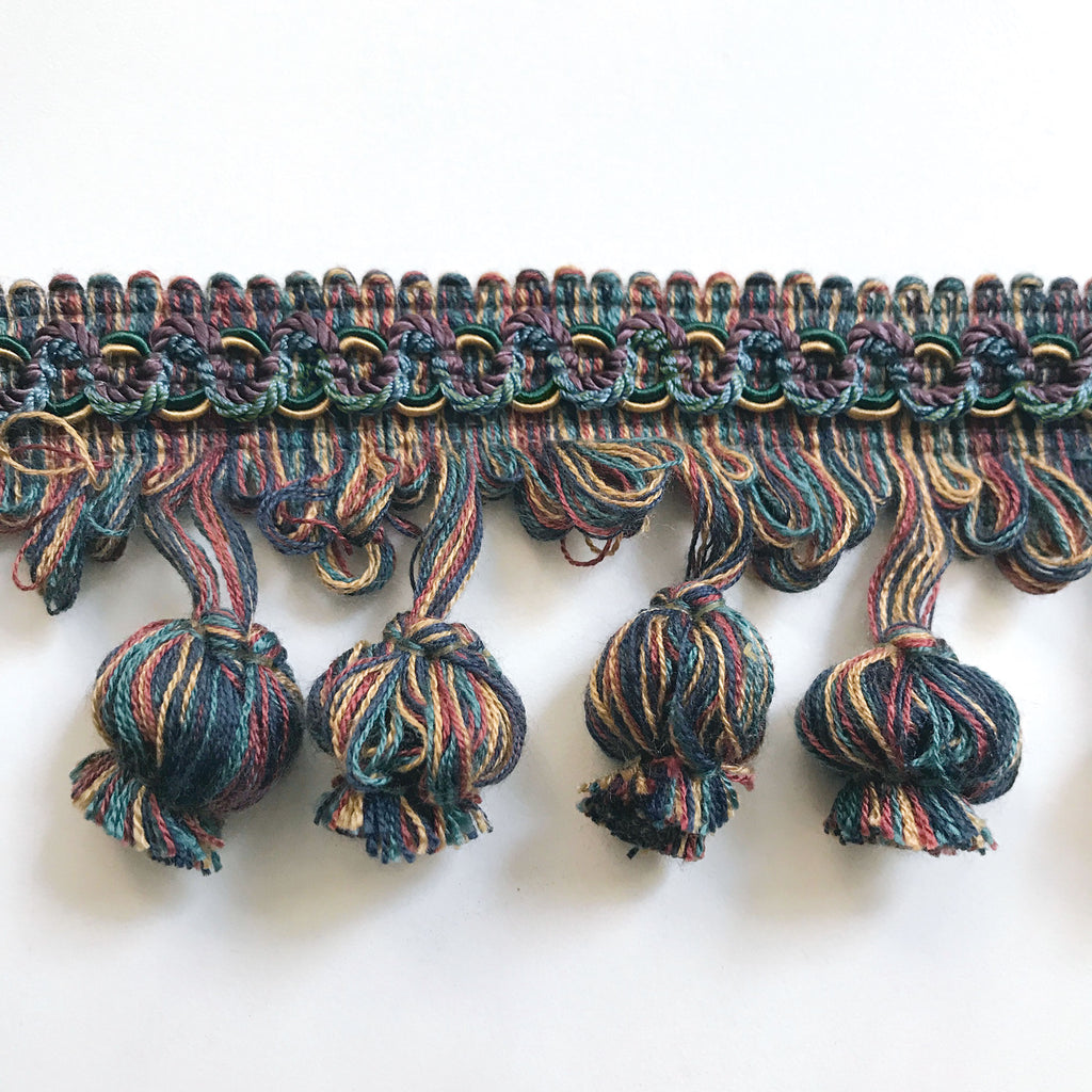 Jewel Tone High Quality Decorative Tassel Trim by the yard