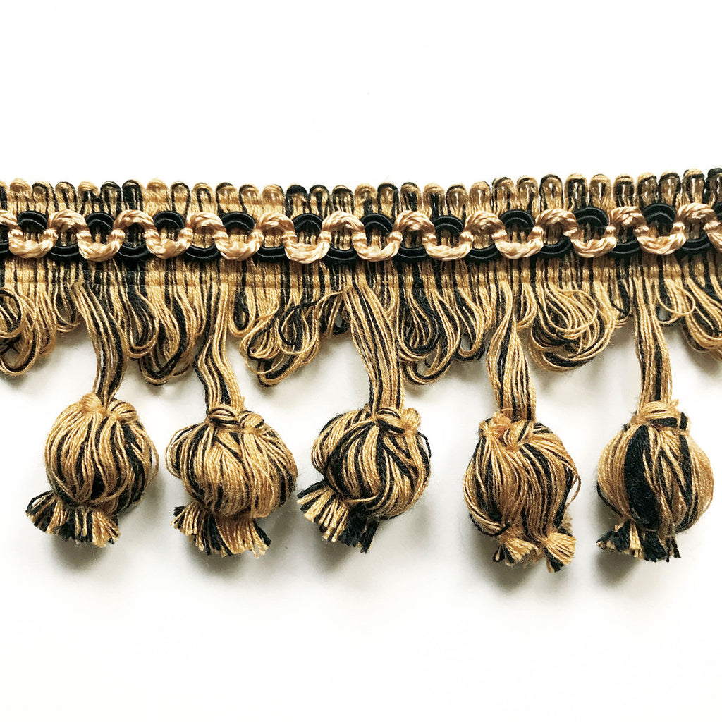 Black and Gold High Quality Decorative Tassel Trim by the yard