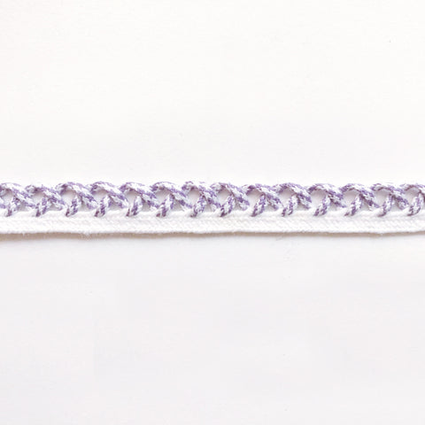 Lilac and White High Quality Decorative Loop Trim by the yard