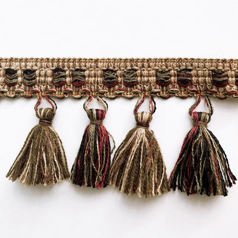 Multicolored High Quality Tassel Trim by the yard