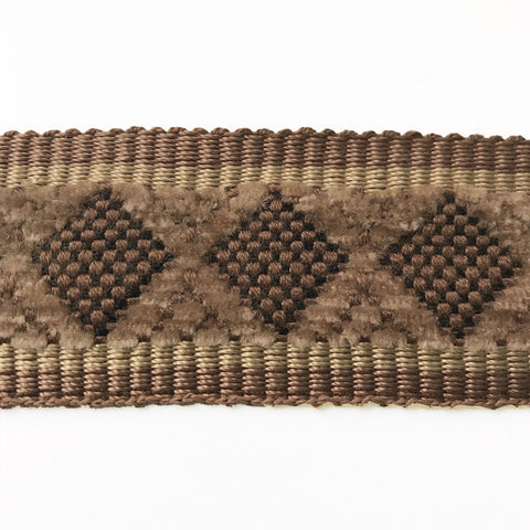 Brown High Quality Decorative Border Trim by the yard