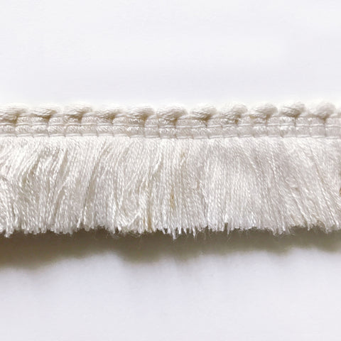 White High Quality Decorative Brush Fringe Trim by the yard