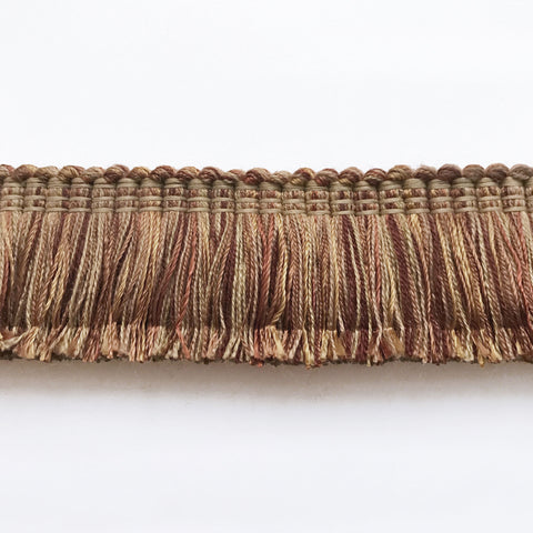 Brown and Gold  High Quality Decorative Brush Fringe Trim by the yard