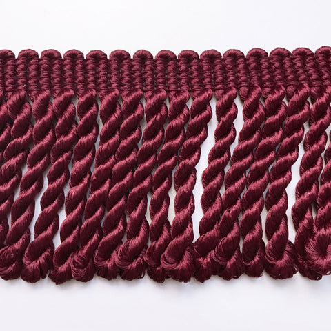 Maroon High Quality Decorative Bullion Fringe Trim by the yard