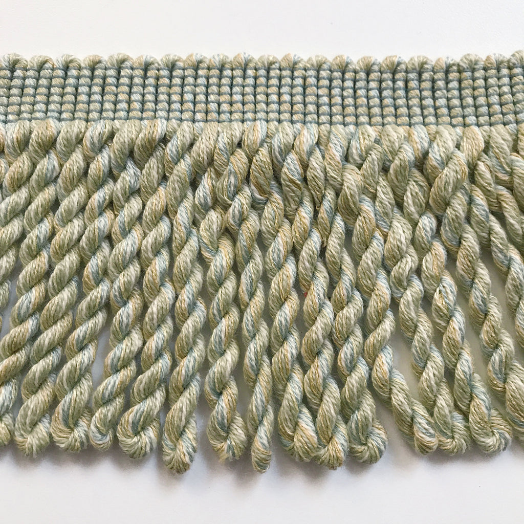 Lime and Baby Blue High Quality Decorative Bullion Fringe Trim by the yard