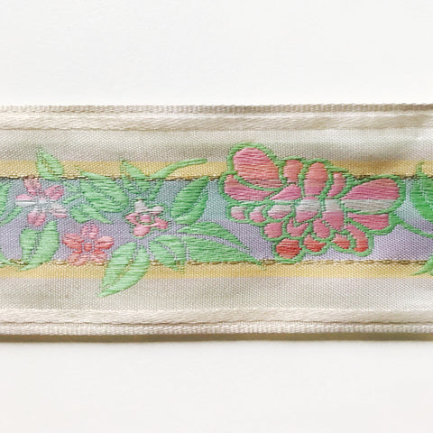 Lime and Blush Pink High Quality Decorative Border Trim by the yard