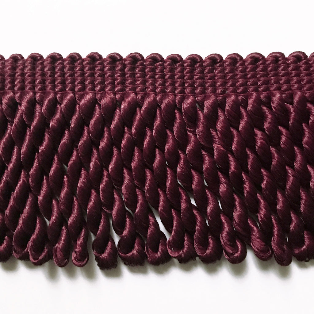 Burgundy High Quality Decorative Bullion Fringe Trim by the yard