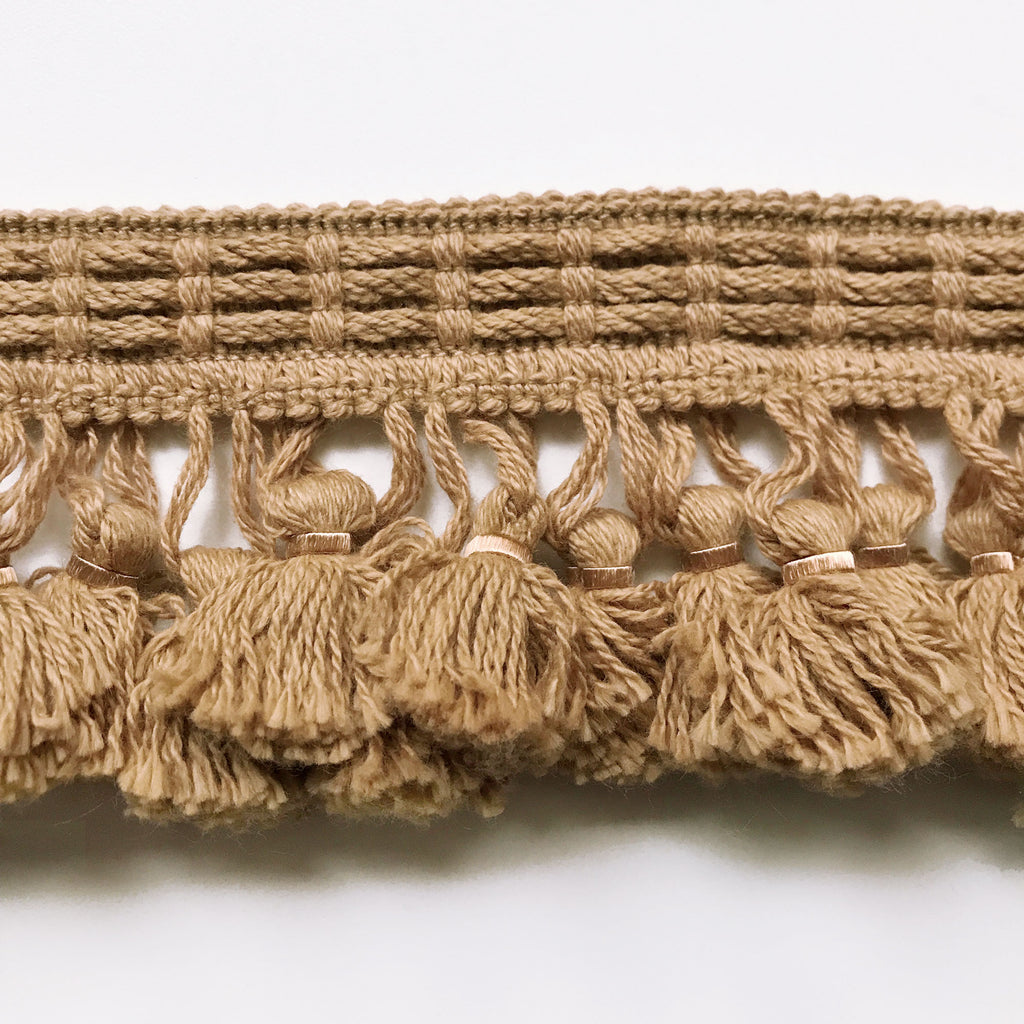 Tan High Quality Decorative Tassel Trim by the yard