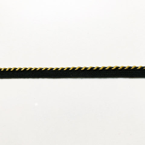 Black and Yellow High Quality Decorative Lip Cord Trim by the yard