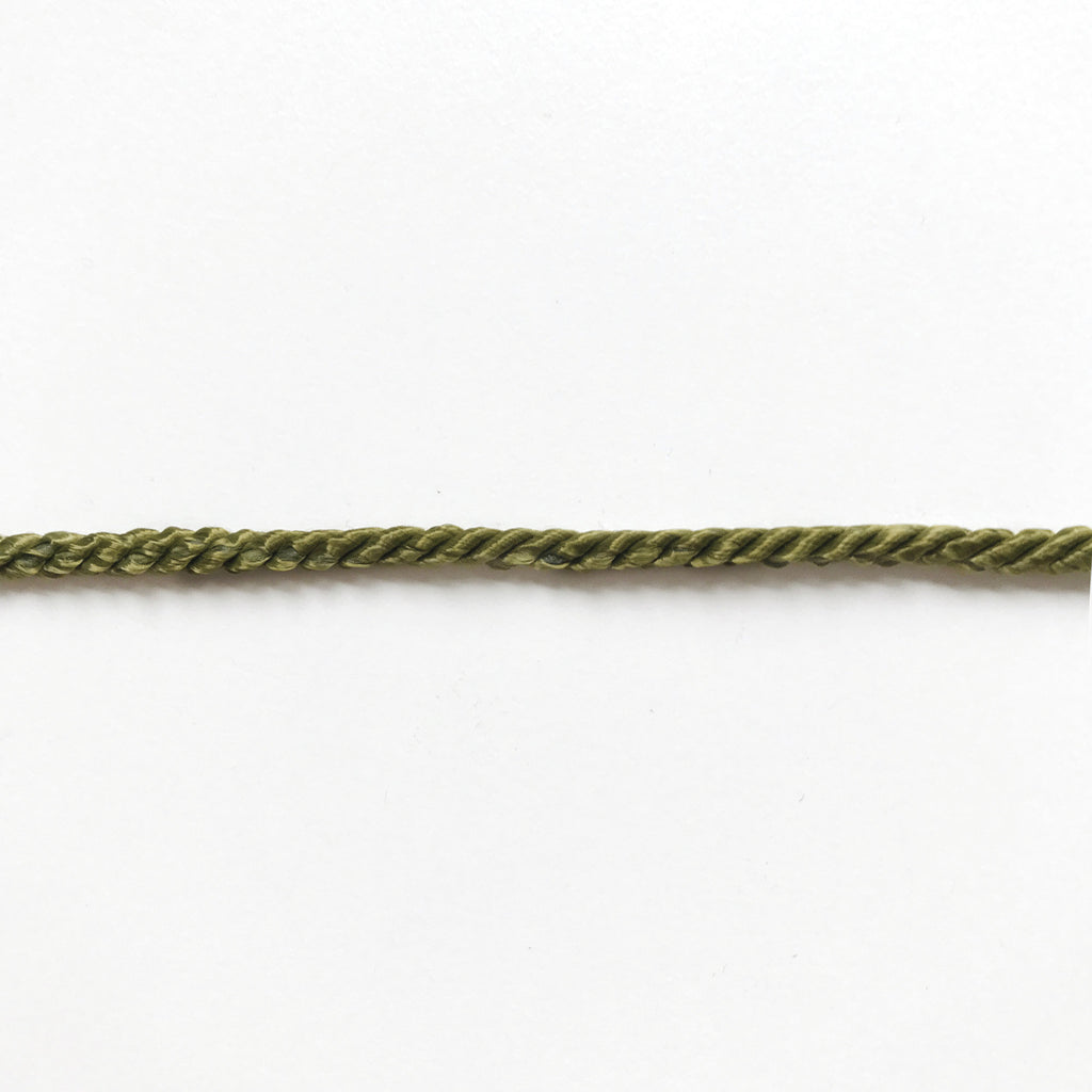 Olive Green High Quality Decorative Cord Trim by the yard