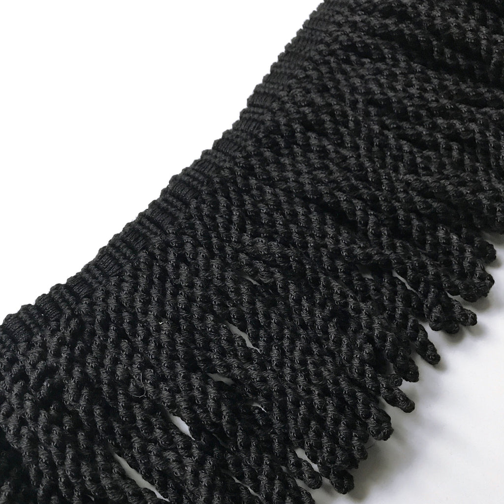 Black High Quality Decorative Bullion Fringe Trim by the yard