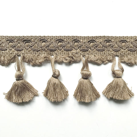 Neutral High Quality Decorative Tassel Trim by the yard