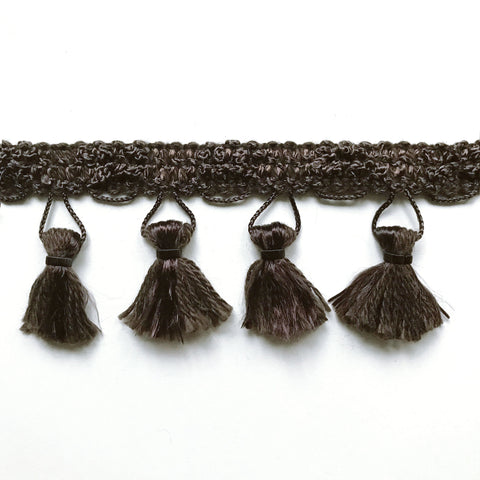 Chocolate High Quality Decorative Tassel Trim by the yard