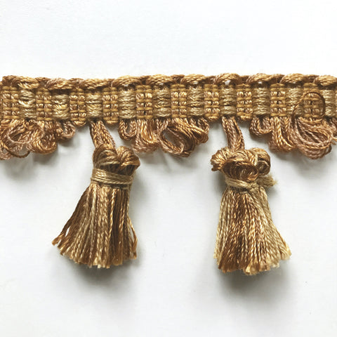 Gold and Yellow High Quality Decorative Tassel Trim by the yard