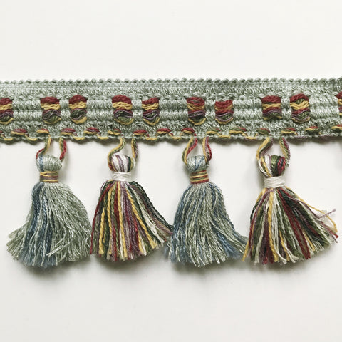 Multicolored High Quality Decorative Tassel Trim by the yard