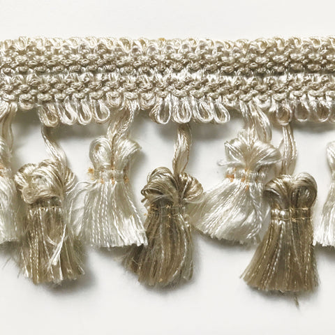 Champagne High Quality Decorative Tassel Trim by the yard