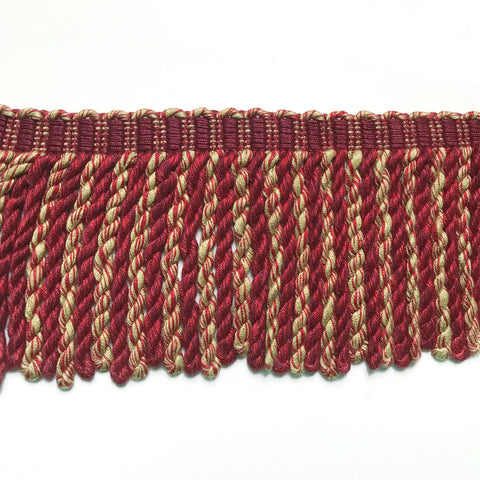 Red and Gold High Quality Decorative Bullion Fringe Trim by the yard
