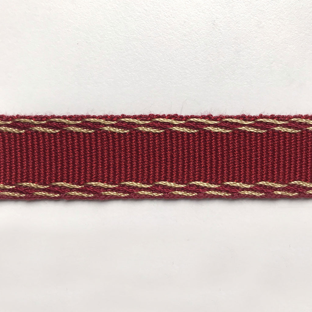 Red and Gold High Quality Decorative Gimp Trim by the yard
