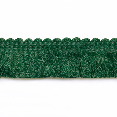 Forest Green High Quality Decorative Brush Fringe Trim by the yard