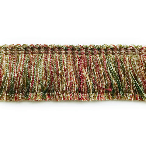 Burgundy and Olive Green High Quality Decorative Brush Fringe Trim by the yard