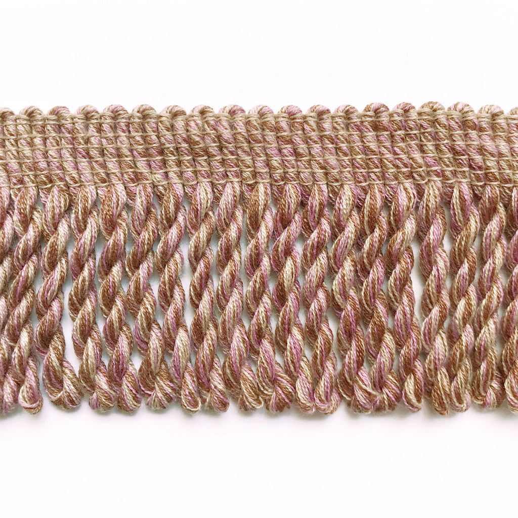 Dusty Rose and Wheat High Quality Decorative Bullion Fringe Trim by the yard