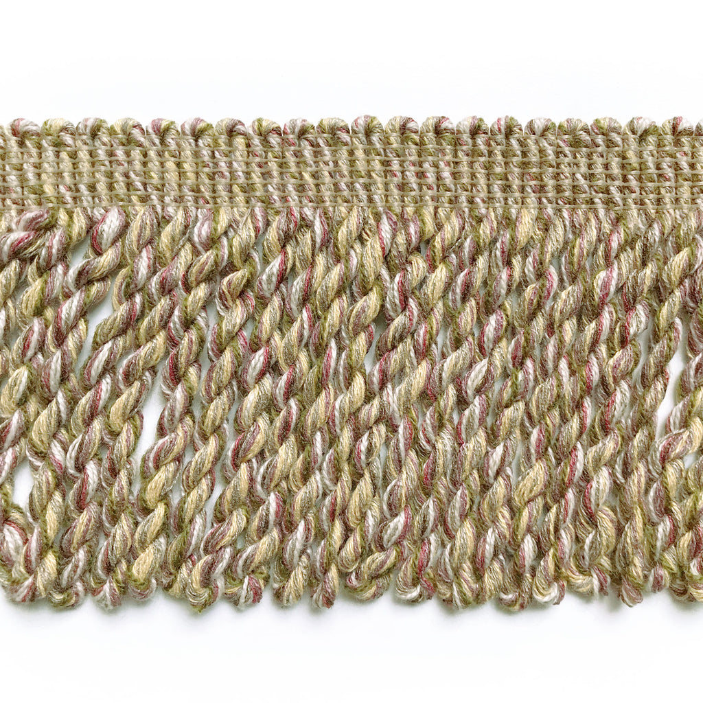 Lilac and Olive Green High Quality Decorative Bullion Fringe Trim by the yard