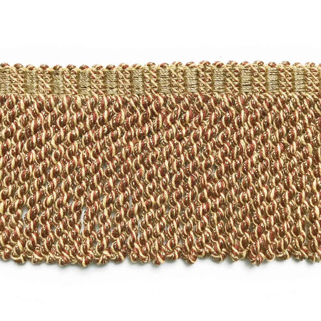Neutral and Rust High Quality Decorative Bullion Fringe Trim by the yard