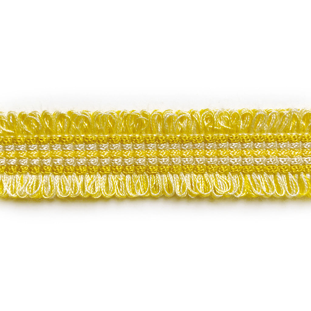 Yellow and Champagne High Quality Decorative Gimp Trim by the yard
