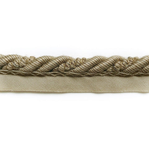 Khaki High Quality Decorative Lip Cord Trim by the yard