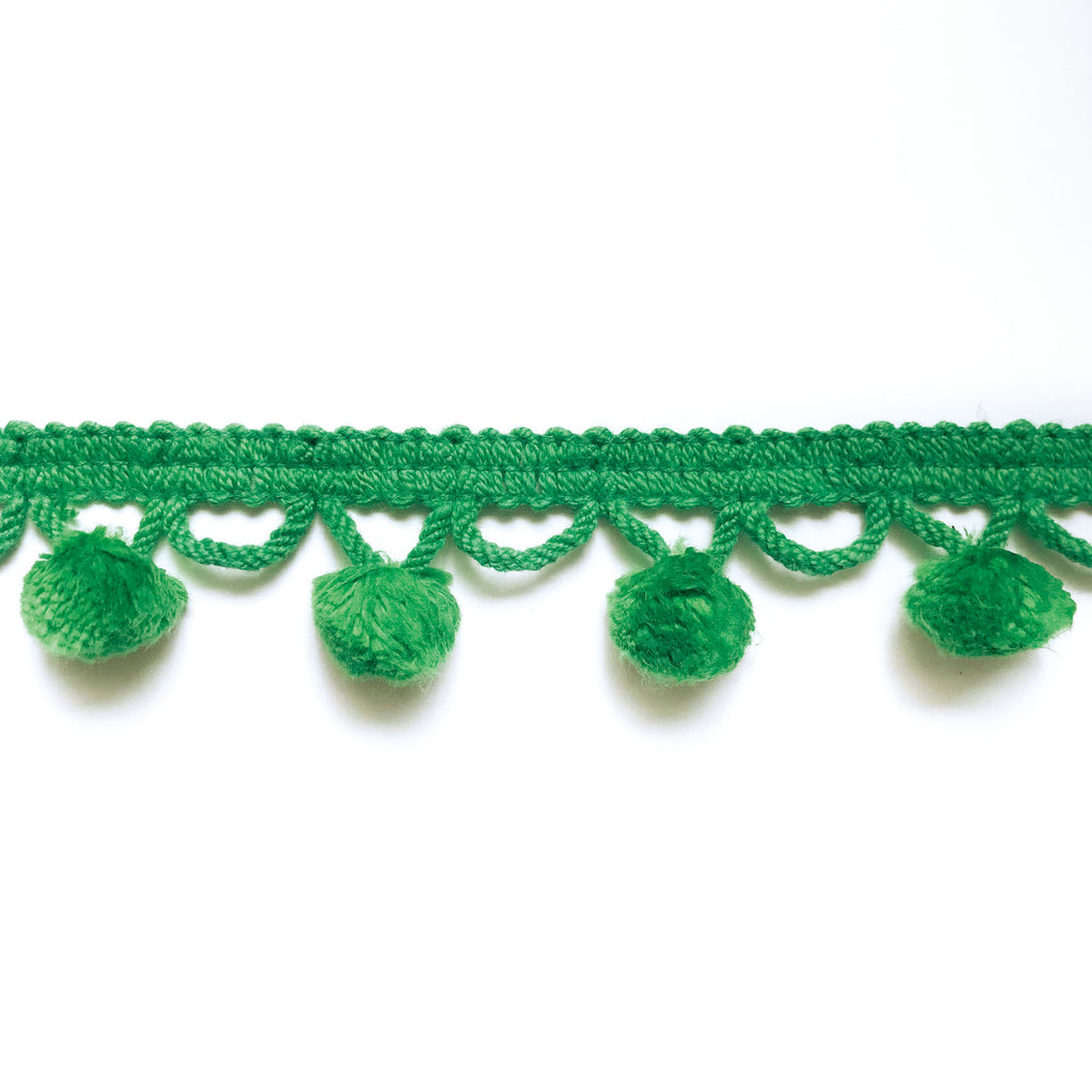 Emerald Green High Quality Decorative Ball Trim by the yard