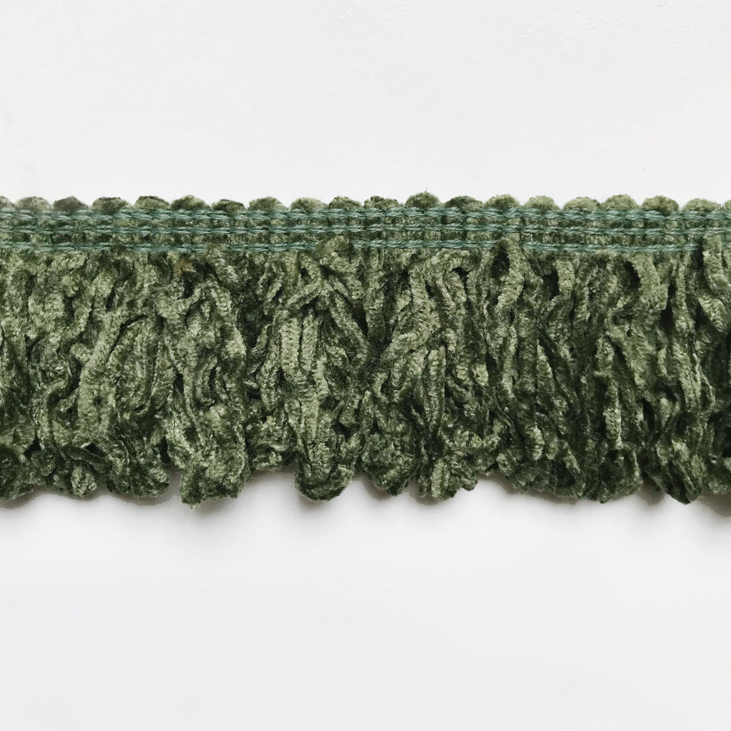 Sage High Quality Decorative Brush Fringe Trim by the yard
