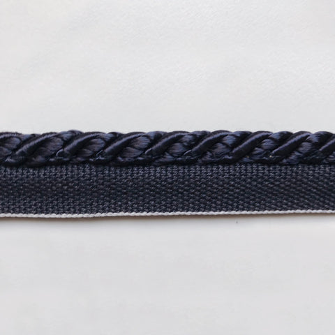Navy Blue High Quality Decorative Lip Cord Trim by the yard
