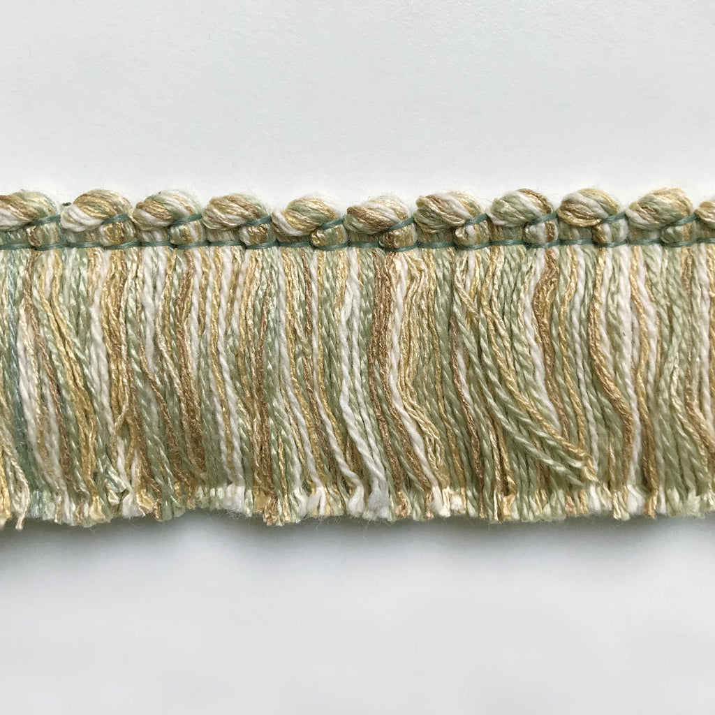 Lime and Light Yellow High Quality Decorative Brush Fringe Trim by the yard