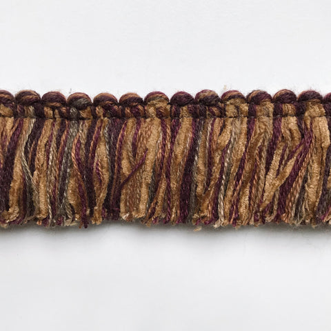 Earthen Brown High Quality Decorative Brush Fringe Trim by the yard