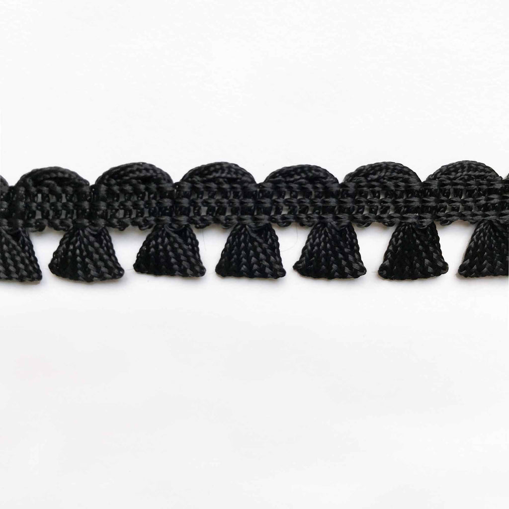 Black High Quality Decorative Gimp Trim by the yard