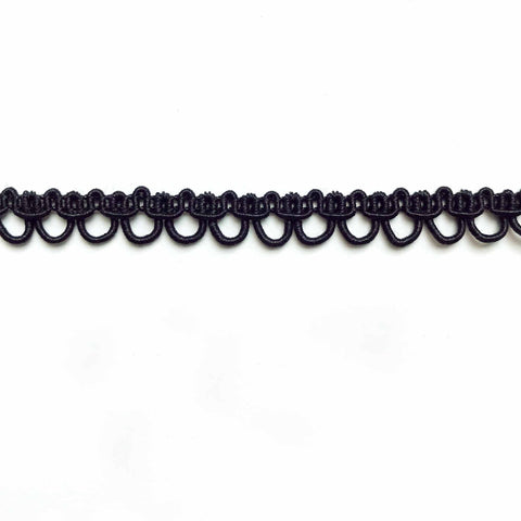 Black High Quality Decorative Loop Trim by the yard