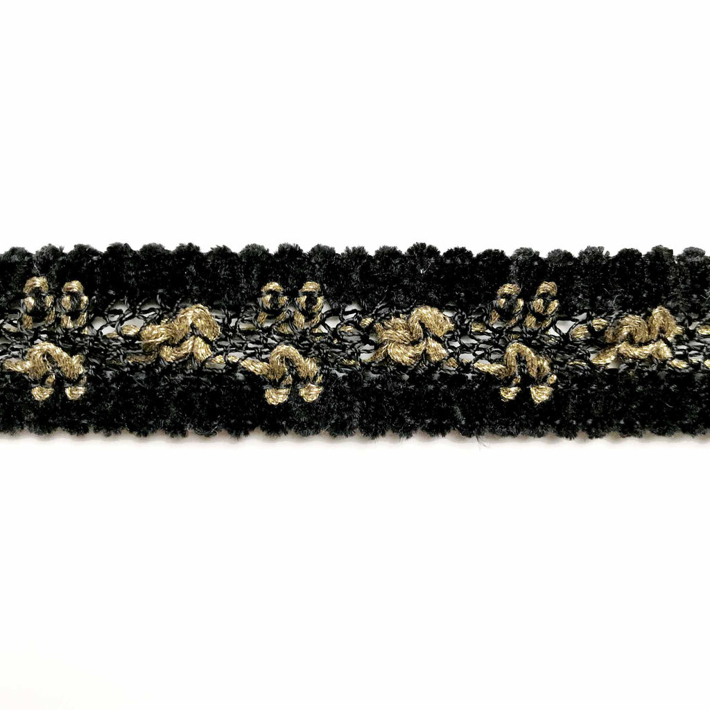 Black and Gold High Quality Decorative Border Trim by the yard