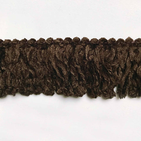 Dark Brown High Quality Decorative Brush Fringe Trim by the yard