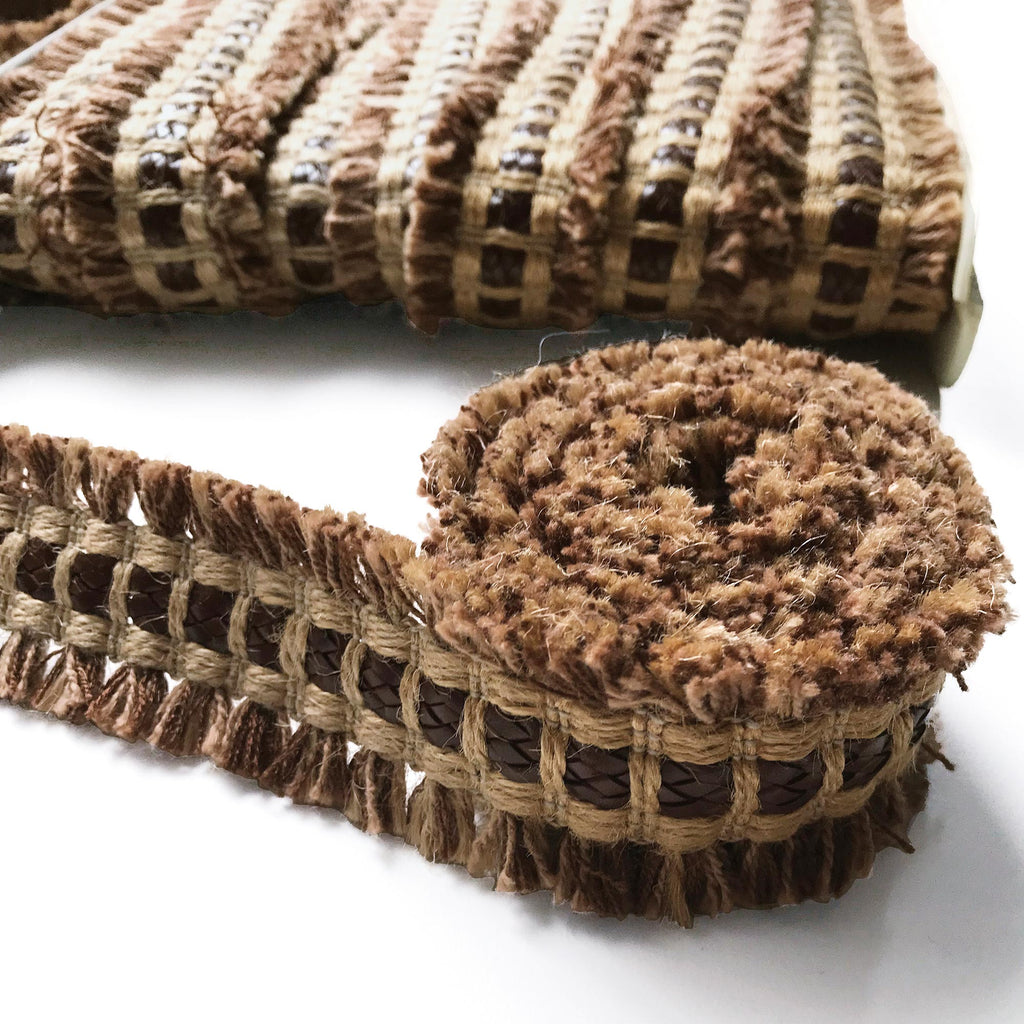 Brown and Tan High Quality Decorative Border Trim by the yard