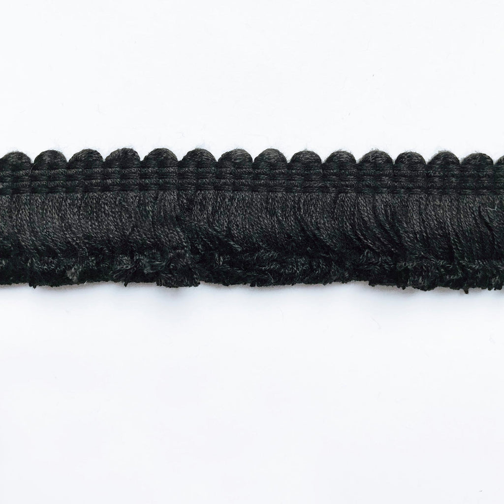 Black High Quality Decorative Brush Fringe Trim by the yard