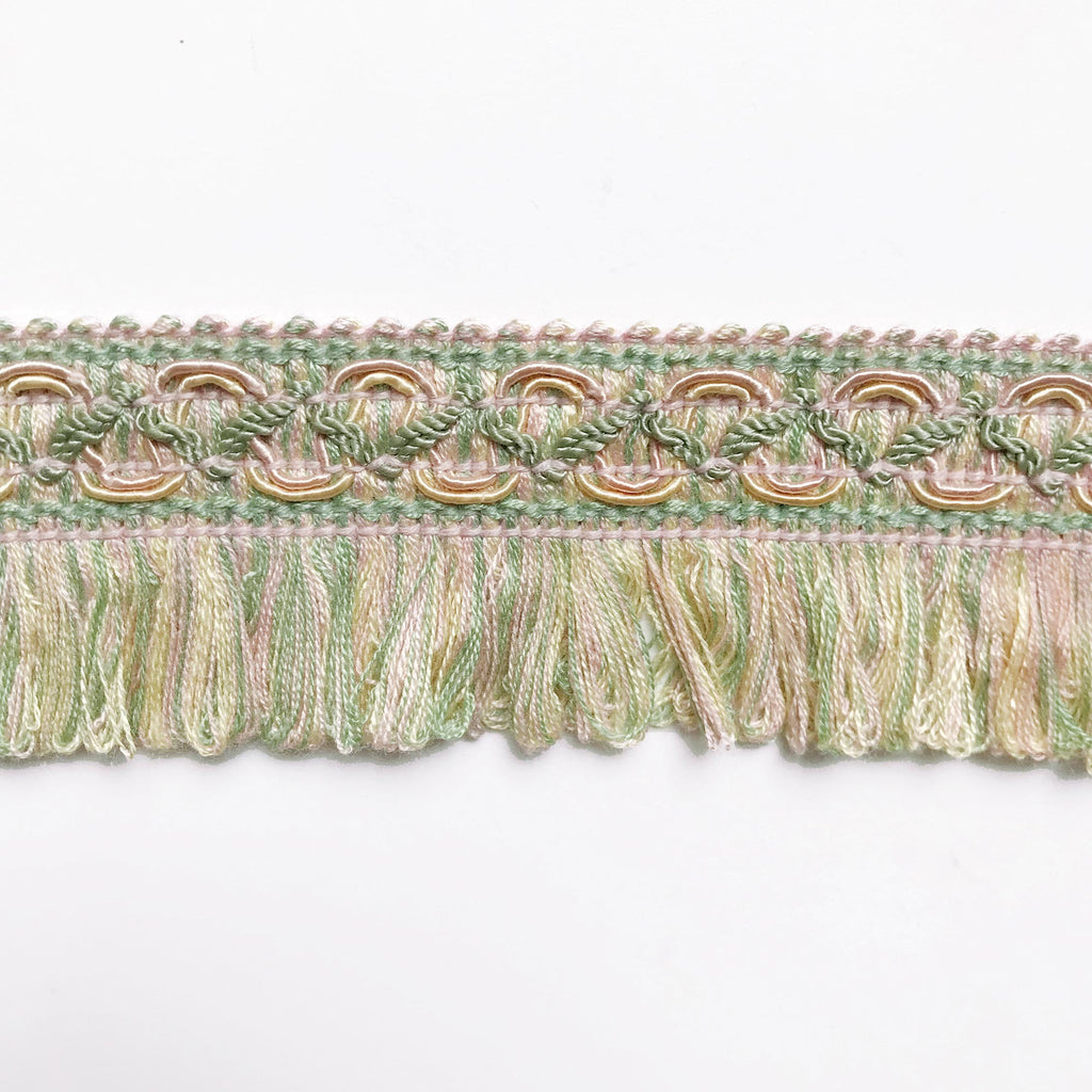 Lime and Blush Pink High Quality Decorative Loop Trim by the yard