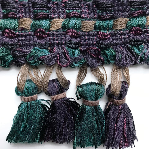 Spa and Plum High Quality Decorative Tassel Trim by the yard