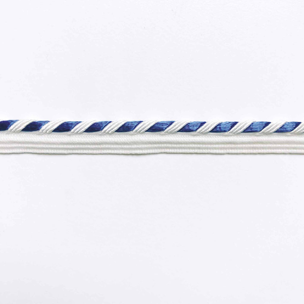 Blue and White High Quality Decorative Lip Cord Trim by the yard