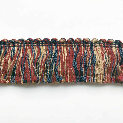 Burgundy and Indigo High Quality Decorative Brush Fringe Trim by the yard